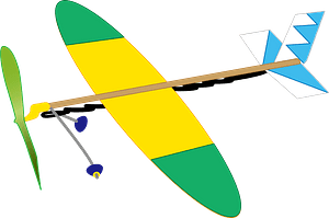 Flying Model Toy Plane clipart
