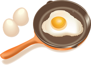 Fried Eggs Cooking clipart