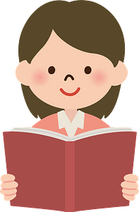 (Kendra) Girl is Reading a Book clipart