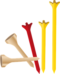 Golf Tees clipart
