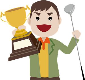 Golfer is Excited about Victory clipart