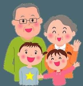 Grandparents with Grandchildren clipart