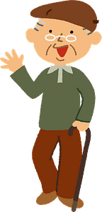 Grandfather is Walking clipart