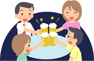 Group is Drinking Beer clipart