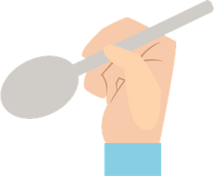 Hand is Holding a Spoon clipart