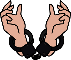 Criminal's Hands are Handcuffed clipart