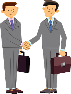 (Robert) Business Men are Shaking Hands clipart