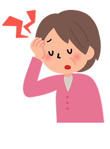 Woman Sick with a Headache and a Cold clipart
