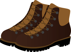 Hiking Boots clipart