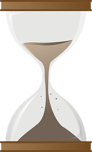Hourglass with Sand clipart