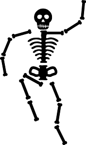 Human Skeleton Silhouette clipart