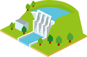 Hydroelectric Power Plant clipart