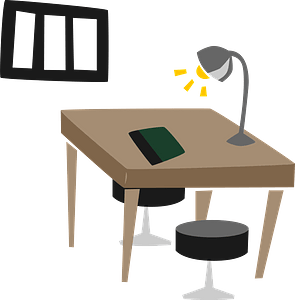Interrogation Room in a Police Station clipart