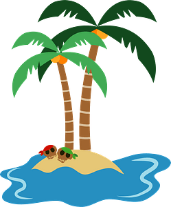 Island with Skulls clipart