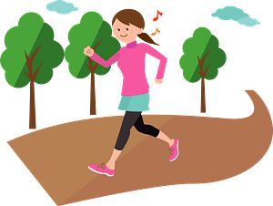Woman is Jogging for Exercise clipart