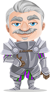 Knight in Armor clipart