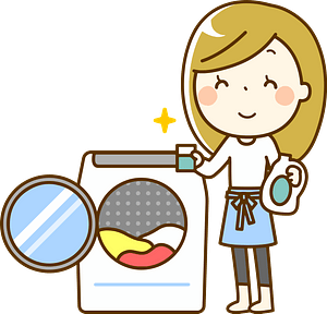 (Camilla) Woman is Doing Laundry clipart