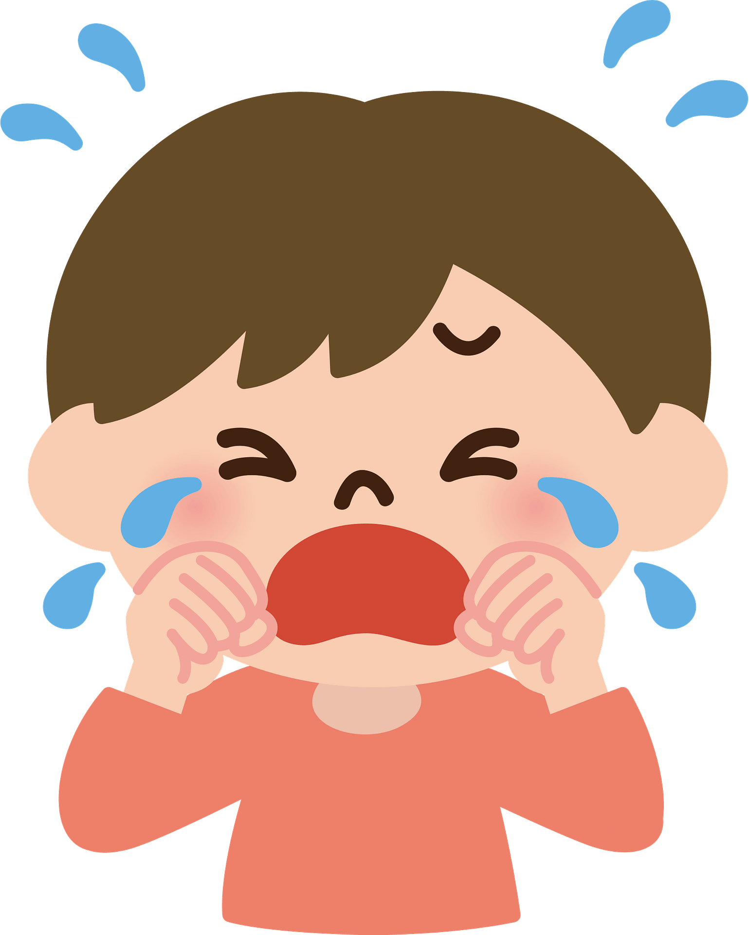 Boy crying in a corner Stock Photo - Alamy