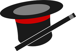 Magic Top Hat and Wand clipart