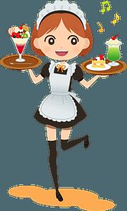 Cafe Waitress clipart