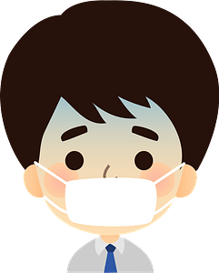 Man Sick with a Cold clipart