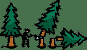 Deforestation clipart