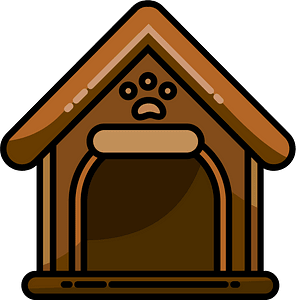 Doghouse clipart