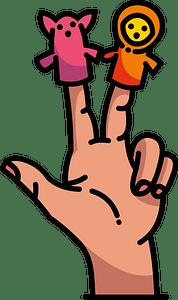 Hand puppet clipart