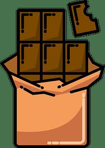 Chocolate bar clipart