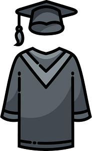 Cap and gown immagine clipart