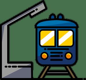 Train station clipart