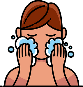 Wash face clipart