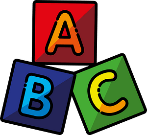 Abc blocks clipart
