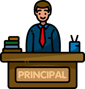 School principal clipart