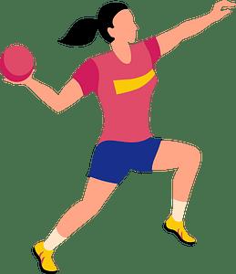 Handball player clipart