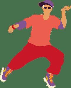 Hip hop dance clipart