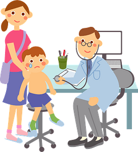 (Paul) Medical Doctor and Child Patient clipart