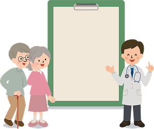 Medical Doctor with Patients clipart