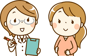 Medical Doctor and (Rachel) Pregnant Woman clipart