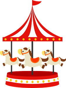 Merry Go round clipart