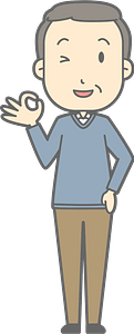 (Harold) Middle Aged Man is Giving Ok Sign clipart