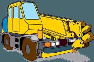 Mobile Crane clipart