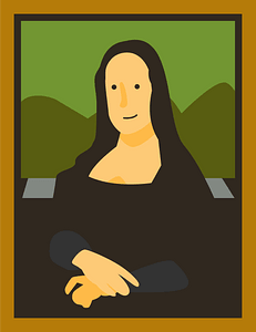 Mona Lisa Painting clipart
