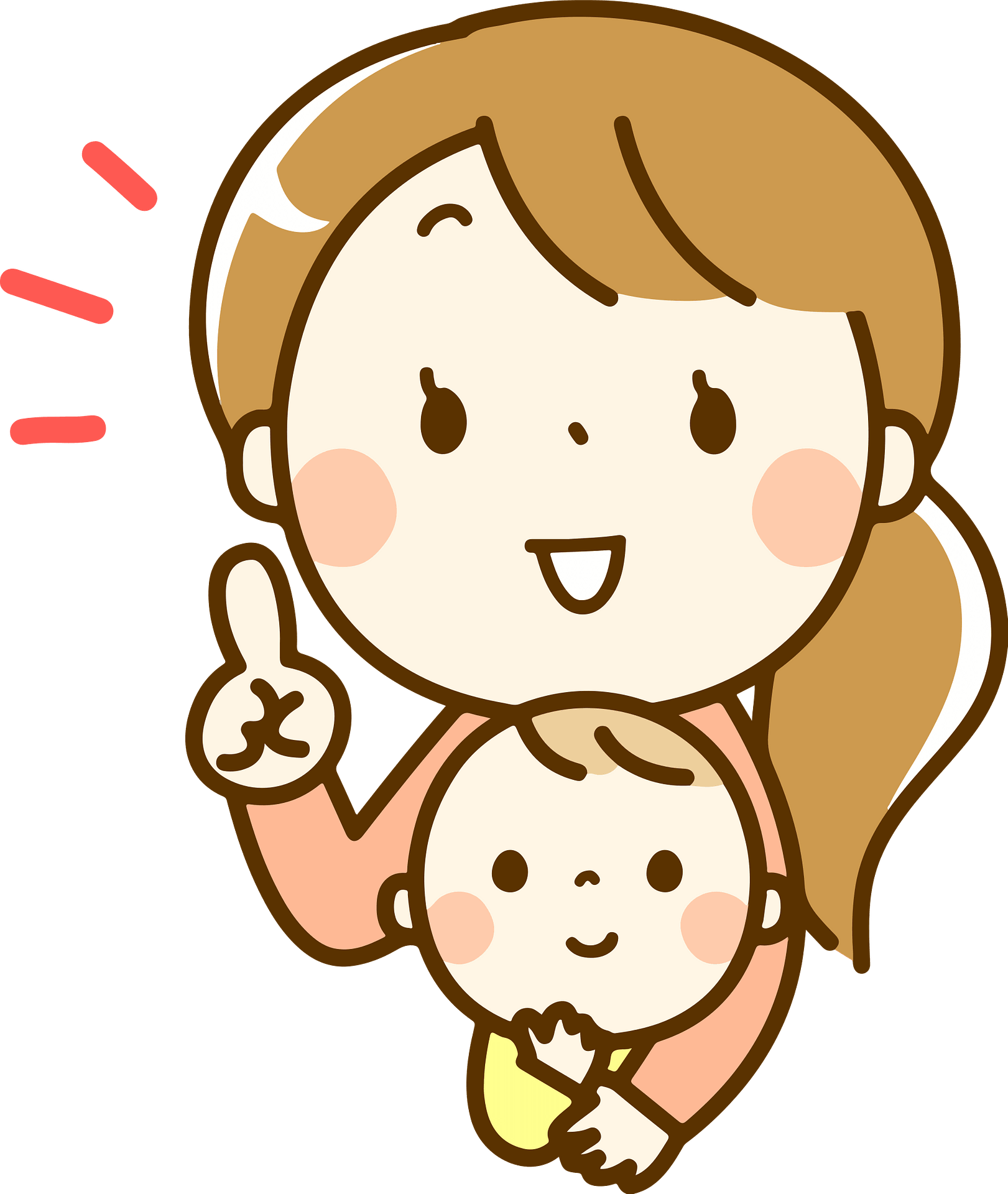 Rachel Mother Is Holding Baby And Giving Advice Clipart Free Download Transparent Png Creazilla