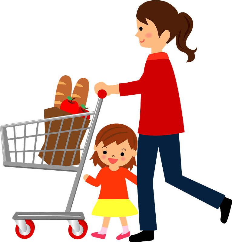 Mother and Daughter are Shopping clipart. Free download transparent .PNG |  Creazilla