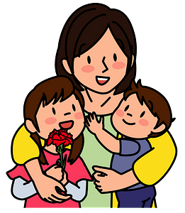 Spending Mother's Day with the Children clipart