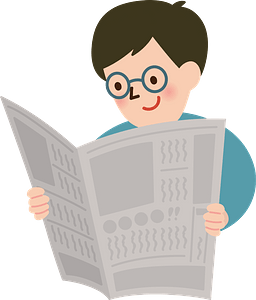 Man is Reading the Newspaper clipart