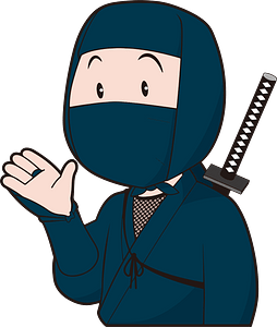Ninja Acting as a Guide clipart