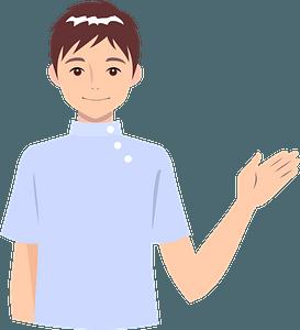 Nurse Man Acting as a Guide clipart