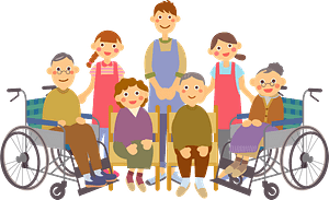 Elderly Care in a Nursing Home clipart